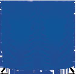 Parawan na kółkach składany - 200x200 cm - niebieski