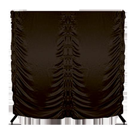 Parawan na kółkach składany - 200x200 cm - brązowy