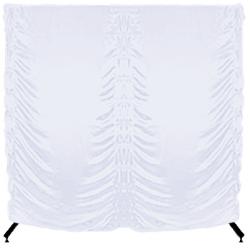 Parawan na kółkach składany - 200x200 cm - biały
