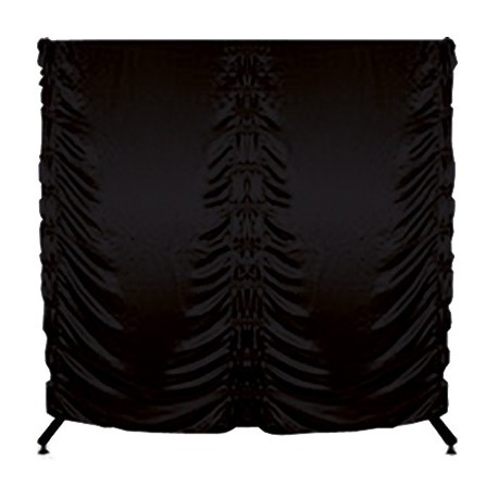 Szatnie - Parawan na kółkach składany - 200 x 200cm - czarny