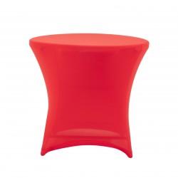 Nakładka elastyczna na stół koktajlowy niski 80x73 cm – czerwona