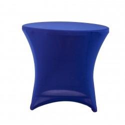 Nakładka elastyczna na stół koktajlowy niski 80x73 cm – niebieska