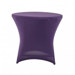 Nakładka elastyczna na stół koktajlowy niski 80x73 cm – fioletowa