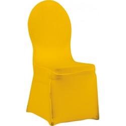 Pokrowiec elastyczny na krzesło VIP – kanarkowy