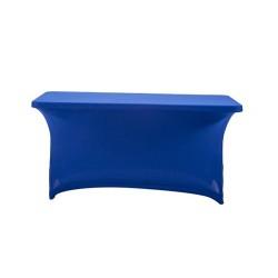 Nakładka elastyczna na stół prostokątny 150x75 cm – niebieska