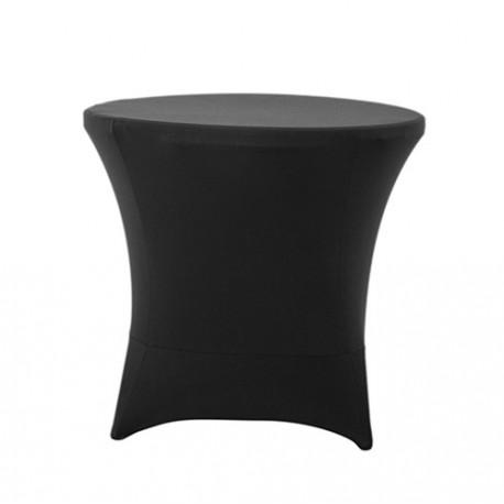 Nakładka elastyczna na stół koktajlowy niski 80x73 cm – czarna
