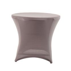 Nakładka elastyczna na stół koktajlowy niski 80x73 cm – szara