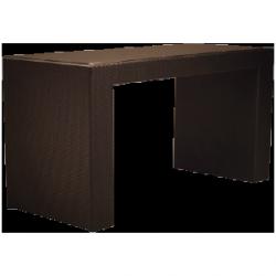 Stół rattanowy wysoki 200x80x102