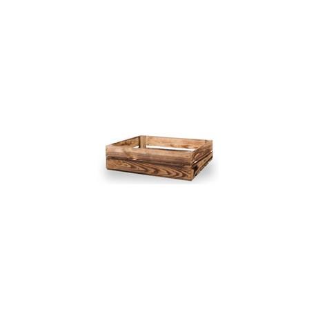 Skrzynka drewniana opalana