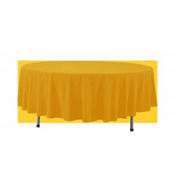 Obrus okrągły 280 cm - żółty