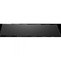 Płyta szklana Zieher prostokątna – 35x80 cm – czarna