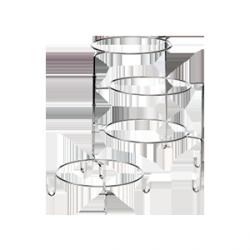 Stelaż bufetowy rozkładany – 4 ramiona