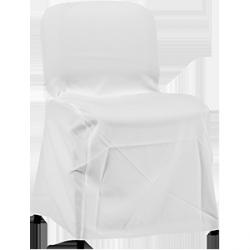 Pokrowiec na krzesło ISO – biały