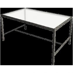 Stół ze szklanym blatem 150x80x80 cm