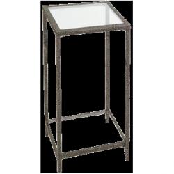 Stół ze szklanym blatem 80x80x110 cm