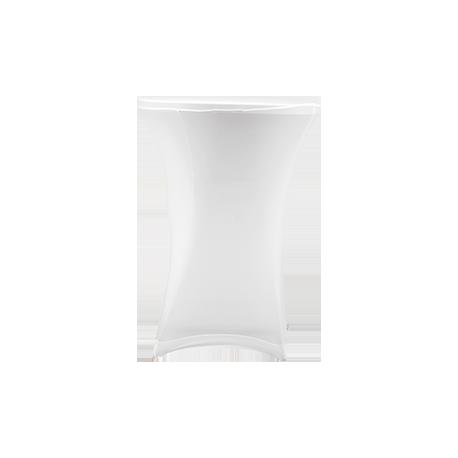 Nakładka elastyczna na stół koktajlowy 80x110 cm – biała