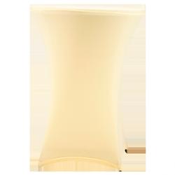 Nakładka elastyczna na stół koktajlowy 80x110 cm – ecru
