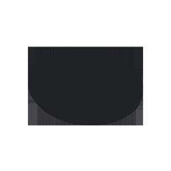 Nakładka - kapelusz na stół koktajlowy 80 cm - czarna