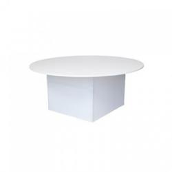 Nakładka elastyczna na stół okrągły 180 cm A+B - biała