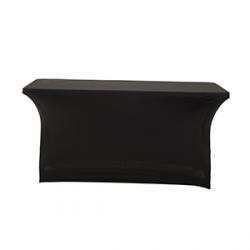 Nakładka elastyczna na stół prostokątny 180x75 cm - czarna