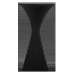 Skerting koktajlowy elipsa 60 cm – czarny