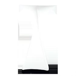 Skerting koktajlowy elipsa 60 cm – biały