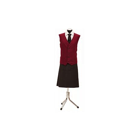 Kamizelka kelnerska – bordo