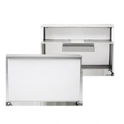 Bar mobilny szary -118x170x60 cm
