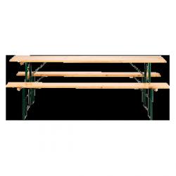 Ława piwna – komplet (2 ławki + ława) – 2,2 m