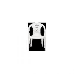 Krzesło ogrodowe plastik białe